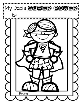 Father's Day Story Starter Cards  - 3 Simple Cards for SUPER HERO Dads FREE