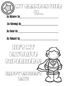 Father's Day Superhero Activity