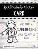 Father's Day Superhero Card