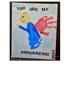 Father's Day Superhero Craft Template