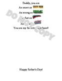 Father's Day Superhero Gift Art Project Template