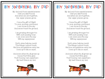 Father's Day Superhero Poem