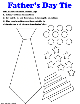 Father's Day Tie Activity