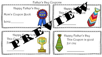 Father's Day Tie Craft and Writing Activities Pack