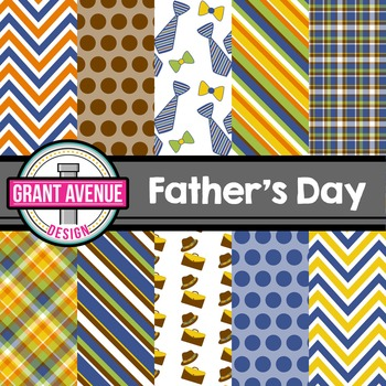Father's Day Ties Digital Papers