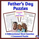 Father's Day Word Search & Crossword Puzzles: Print & Paperless Versions