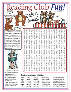 Activities With Dad (Father's Day) Word Search Puzzle