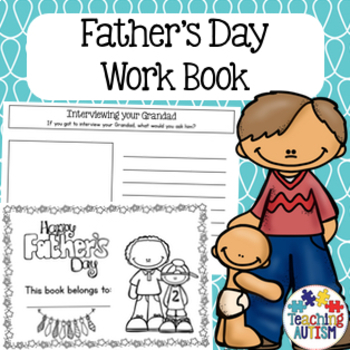 Father's Day Work Book