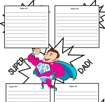 Father's Day Worksheets (drawing, writing, colouring, display)