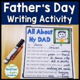 Father's Day Writing Activity: All About my Dad!