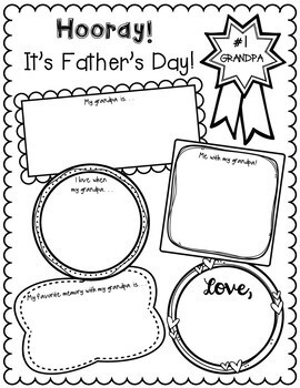 Father's Day Writing Activity FREEBIE:  For Dad, Grandpa, and Uncle!