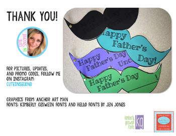 Father's Day Writing Craft Mustache Book