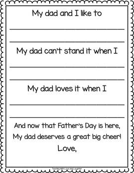 Father's Day Writing Freebie