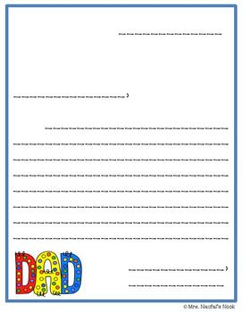 Writing Paper Templates - Father's Day Theme