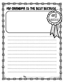 Father's Day Writing Paper Printable