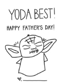 Father's Day Yoda Best Handprint Craft