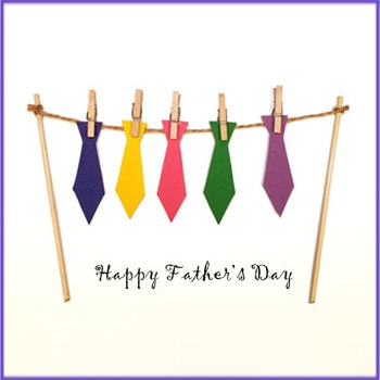 Father's Day card with ties