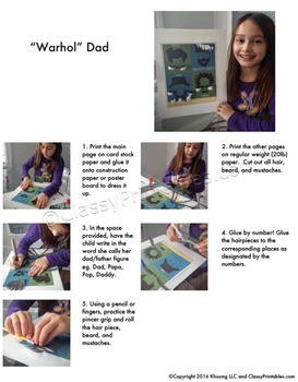 Father's Day craft for kids SUPER SALE pack FREE fact sheet and coloring pages