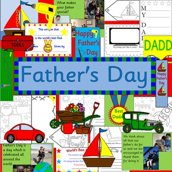 Father's Day craft pack- worksheets, crafts, gifts, Dad book