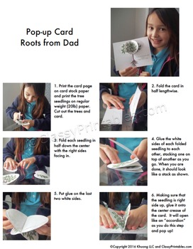 Father's Day make your own card with FREE fact sheet coloring pages