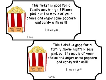 Father's Day movie ticket
