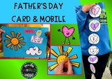 Father's day Craftivity mobile sun card templates Dad Fath