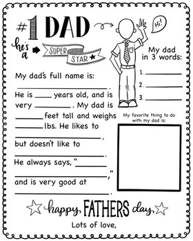 Father's day Questionnare