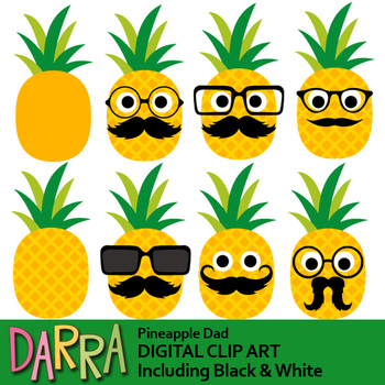 Father's day clipart / Pineapple clip art