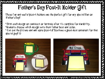Father's Day Post-It Holder Craft - Free!