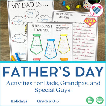 Father's Day Writing Activities and Art Project
