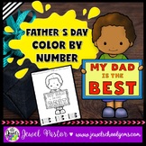 Father's Day Coloring Pages (Father's Day Color By Number)
