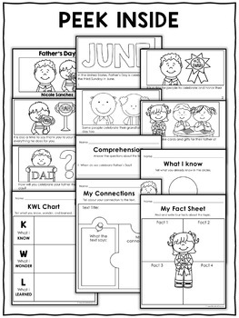 Mini Book and Activities - Fathers Day
