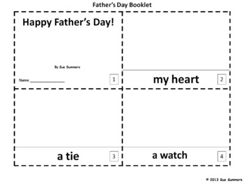 Father's Day 2 Booklets and Presentation
