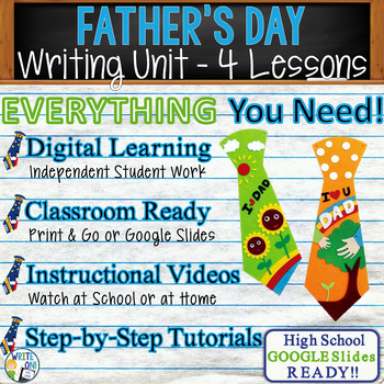 Father's Day Writing BUNDLE! - Argumentative, Persuasive, Expository, Narrative