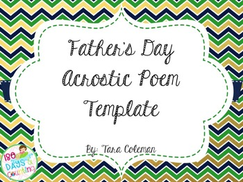 Father's Day Acrostic