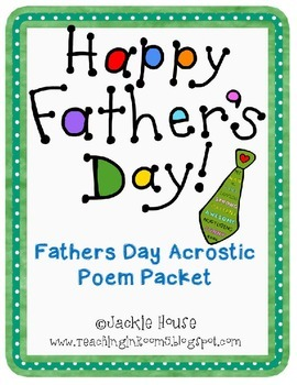 Father's Day Acrostic Poem
