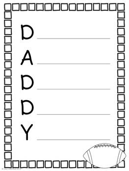 Father's Day Acrostic Poem ~ Freebie!