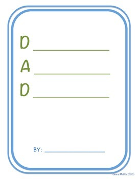 FREE Father's Day Acrostic Poems