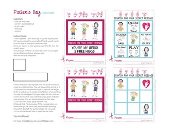 Father's Day Activity: DIY Scratch Cards with ASL