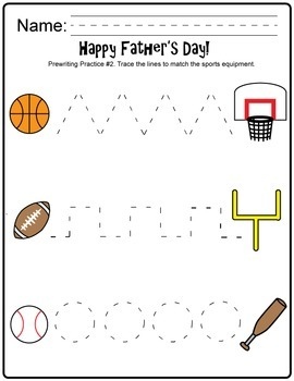 Father's Day Activity Pack (counting, graphing, writing, tracing)