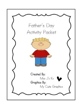 Father's Day Activity Packet - Booklet, Letter, Gifts, Etc