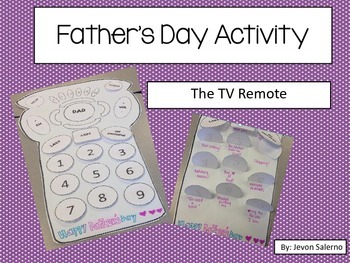 Father's Day Activity: The TV Remote