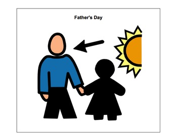 Father's Day Adaptive Book (autism/language delays/disorders).