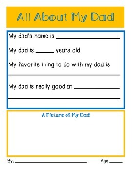 Father's Day- All About My Dad
