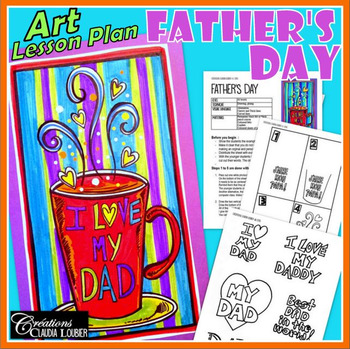 Father's Day  -  Art Lesson