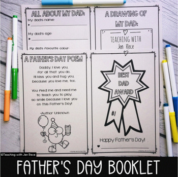 Father's Day Award Booklet - Canadian/Australian/British English