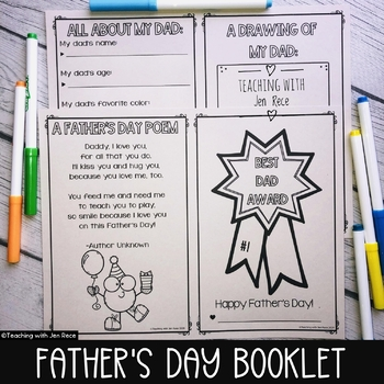 Father's Day Award Interactive Booklet