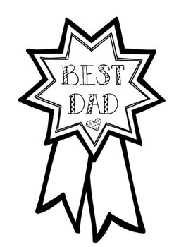 Father's Day -Best Dad Ribbon