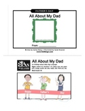 Father's Day Book Activity: All About My Dad with ASL