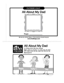 Father's Day Book Activity: All About My Dad with ASL - Black & White